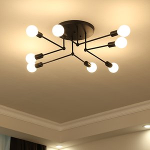 Nordic 6 8 Heads Bedroom Ceiling lamp Simple Modern Warm Romantic Creative Personality Living Room Study Dining Room Lighting R40
