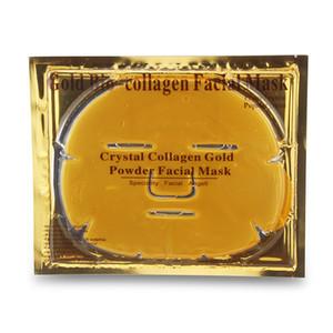 100 adet / grup En Çok Satan Altın Bio Kollajen Yüz Maskesi Yüz Maskesi Kristal Altın Tozu Kollajen Yüz Maskeleri Nemlendirici Anti-aging