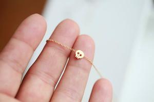 Крошечный сахар череп Шарм ожерелье милый скелет ожерелье простой череп животных лицо глава ожерелья Для женщин ювелирные изделия