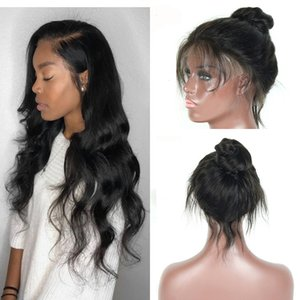 Cheap Brazilian Human Hair Wigs For Black Women 360 Full Lace Hair Wigs Straight Body Wave 150% Density Pre Plucked Wigs Natural Color