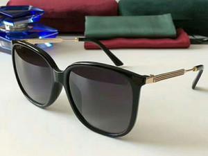 3845S Square Pilot Occhiali da sole BLACK GOLD / Grigio Sonnenbrille des lunettes de soleil Occhiali da sole di design Gafas de sol donna con scatola Case