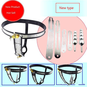 4 Kind Free Combination Stainless Steel Female Underwear Chastity Belt,T-type Chastity lock,Virginity pants,Adult Game,SNA183-New