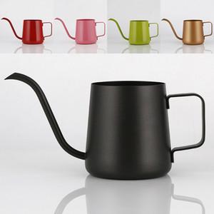 350 мл кофейник из нержавеющей стали гусиная шея залить кофеварка висит ухо капельного кофе длинный носик чайник чайник инструменты WX9-350