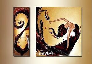 100% el-boyalı indirim şarap cam duvar sanatı tuval dans kız yağlıboya dekorasyon ev modern şimdiki