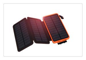 Новый 10000 мАч Солнечное зарядное устройство солнечной энергии Банк противоударный мобильный солнечный телефон зарядное устройство аккумулятор фонарик для телефона Power Banks