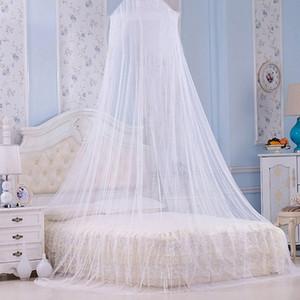 2020 Элегантный белый Москитная сетка сводчатые кровать повесила купол комаров Палатка насекомых Отторжение Canopy кровать занавес Постельные принадлежности Принадлежности