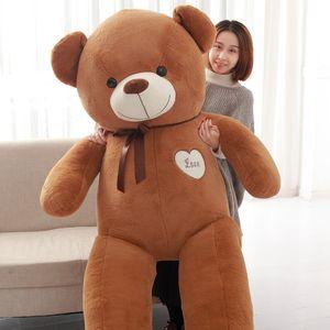 Dorimytrader géant mou dessin animé ours en peluche jouet géant ours en peluche poupée câlin ours poupées pour cadeau amoureux 71inch 180cm DY50458