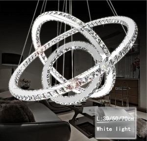 Modern LED Crystal Chandelier Lights Lámpara para la sala de estar Cristal Lustre Chandeliers Lighting Colgante Hanging Ceiling Fixtures