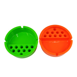 ABS Plastic Cigarette Smoking Cup Ashtray Ash Holder Snuff With 10pcs Cigarette Storage Hole Car smoke Ash Holder