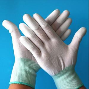 Gants antistatiques antistatiques de 5pair Antistatique ESD de gants fonctionnels pu enduits antidérapant de PC de doigt enduit de paume pour la protection de doigt