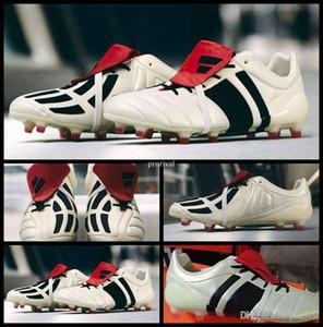2017 Predator Mania Champagne FG Tacos de fútbol para hombre de alta calidad para hombre Botas de fútbol zapatos de fútbol al aire libre zapatillas de deporte de la talla 39-45