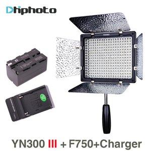 YN300 III YN300III 3200K ~ 5500K 300 LED 라이트 NP-F750 배터리와 카메라 충전기에 충전기 결혼식을위한 조명