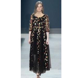Сари Платья Платья Настоящий Пакистан Женская Одежда 2017 Новый Большой Размер Fat Sister Mm Dress Тонкий Сексуальный Вышивка.