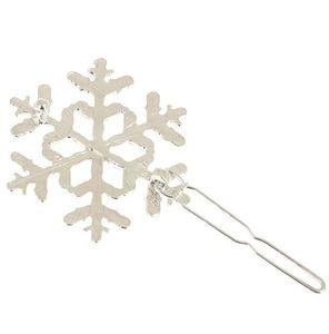 Clips muchachas de las mujeres del copo de nieve el cabello accesorios de oro de la plata del copo de nieve de la horquilla de Hairclip Manguito pinza de pelo de la joyería de regalo de Navidad 12pzas