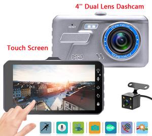 """4"""" Auto DVR mit Touch-Panel digitalen Fahrtenrecorder Fahrzeug Video dashcam vollen HD 1080P 2Ch 170 ° Blickwinkel Nachtsicht G-Sensor"""