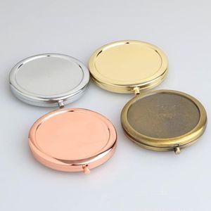 Portátil Folding Espelho maquiagem cosméticos Pocket Mirror Para Maquiagem Espelhos Beleza Acessórios F1496 transporte rápido