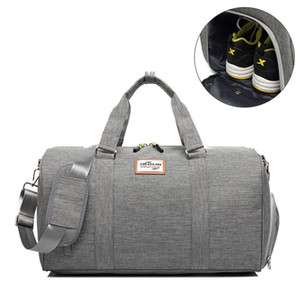 GYKZ Grande Capacidade de Viagem Saco de Ombro À Prova D 'Água Duffle Bag Para Mulheres Homens Portátil de Fitness Esporte Ginásio Com Sapatos de Bolso HY133
