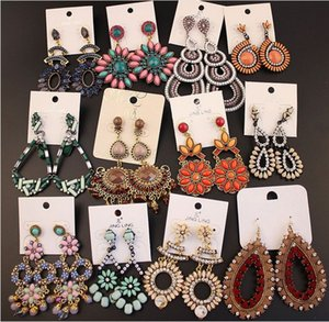 Loted Lot Vintage Bohemian Dangle Earrings Womens National Style Retro National Style Elección al por menor pendientes colgantes Pendientes de gancho