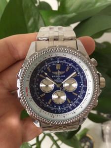 Мужские часы New Brand Автоматическая Мужские часы Navitimer черный циферблат синий Стильный Luxury Мужские часы дизайнера