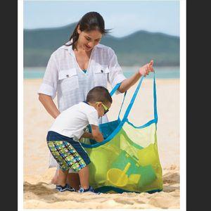 Dobrável Bebê Criança Brinquedo Sacos De Armazenamento de Praia Saco De Malha De Banho Pendurado Net Cestas Para Ao Ar Livre Portátil Tamanho Grande Organizador de Volume 7 8 t ZZ