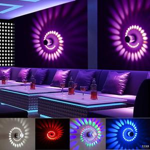 Modern 3 W CONDUZIU a Lâmpada de Parede de Alumínio Iluminação Interior Para Bar Decor Luzes Luminária Sconce Lâmpadas de Fundo de Natal Dia Das Bruxas