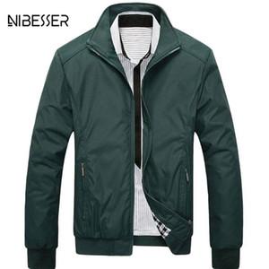 Nibesser clássico dos homens jaqueta gola homens jaquetas e casaco streetwear jaqueta bomber jaquetas casuais primavera outono para o sexo masculino