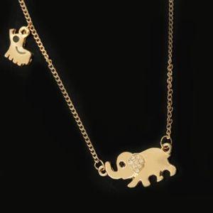 Schmuck Halskette für Frauen Elefanten Anhänger Kristall Familie Mode-heiße einfache Art und Weise frei von Versand