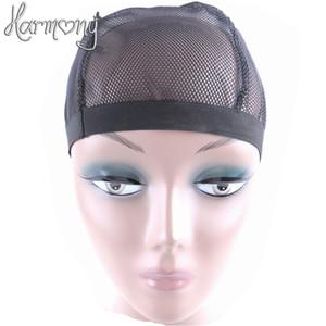 5 pezzi di stile a cupola parrucca a rete per fare parrucche colore nero moda estensibile berretto da tessitura maglia di nylon elastica all'ingrosso
