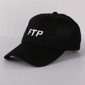 Gorra de béisbol FTP mujeres de los hombres de algodón bordado sombrero del papá del hueso de Hip Hop del Snapback del casquillo del camionero de golf al aire libre ajustable informal Harajuku verano viseras