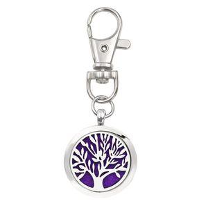 Дерево жизни брелок эфирное масло аромат диффузор духи медальон с карабинчиком брелок брелок 5 шт. колодки цвет случайно K64-K73