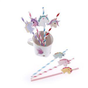 10 adet / torba Unicorn İçme Payet Parti Malzemeleri Karikatür Unicorn Payet Doğum Günü Dekorasyon Çocuklar Için Bebek Duş Tema Festivali