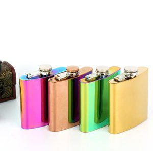 5 цветов 6 унций из нержавеющей стали кувшин портативный карманный фляга из нержавеющей стали стакан позолоченный градиент цвета кувшин бокал для вина SN1381