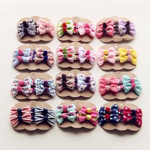 4PCS / lot Neu Design Kinder Bowknot-Haarnadeln Schöne Baby-Gros Grain Kleine Mädchen-Haar-Accessoires Kinder-Haar-Klipps Kopfbedeckung
