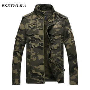 BSETHLRA 2018 Chaqueta de camuflaje Hombres Otoño Ejército Ropa militar Jaqueta Masculino Moda Abrigos a prueba de viento Chaquetas masculinas Homme