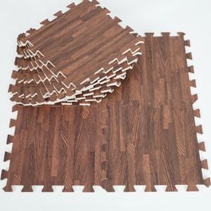 Soft EVA Foam Puzzle Crawling Mat Baldosas de piso de madera profunda Interlock Alfombra impermeable para niños Sala de estar Gimnasio cada 30X30cm