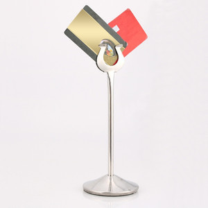 """8 """" стойка меню держателя карточки места номера таблицы нержавеющей стали U форменная для ресторана венчания"""