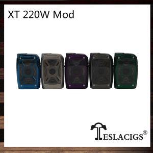Tesla XT 220 Вт Box Mod X и T Дизайн светодиодные фонари с 7-цветным режимом RGB Конструкция из цинкового сплава