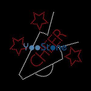 Cheer Star Rhinestone Fer De Transfert De Chaleur Sur Motif Fixe Chaud 20pcs