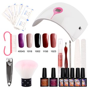 Nail Gel Soak Off Gel Top Coat base Polish Nails Kit Polish 36w lampe 9C 5 couleurs Art Outils Kits manucure