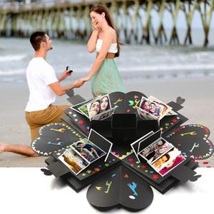 DIY Sorpresa Amor Explosión Caja Regalo Explosión para Aniversario Scrapbook DIY Álbum de fotos Regalo de cumpleaños Envoltura caja terminada 6 color WX9-1076