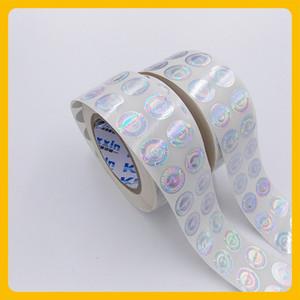 Custized lazer baskılı anti-sahte güvenlik boş yuvarlak hologram rulo etiket etiket