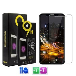 Para iPhone 12 11 pro Max LG K51 Stylo 6 Aristo 5 4 Plus Moto E7 G rápido Samsung A71 A51 A11 A21 Protetor de Tela Limpar vidro temperado 9H