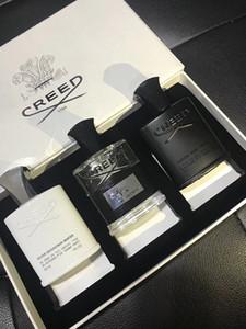Sıcak Paris Parfüm Setleri 30ml * 3 Creed Kolonya Erkek Parfüm Yüksek Parfüm Sıvı Sprey Parfümler Tütsü seti Aventus Yeşil İrlanda Gümüş Su.