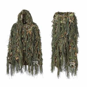 Waldtarnungs Ghillie Anzug Leichtgewichtler Jagd Anzug, Stimme Lautlos, 3D Ghillie Suits