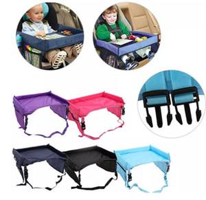 Bebé niños pequeños cinturón de seguridad para el coche 5 color viaje Bandeja de juego impermeable mesa plegable asiento de coche del bebé cubierta Arnés Buggy carrito merienda