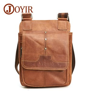 JOYIR Men's Bags Genuine Leather Male Crossbody Bags Strap Casual Flap Men Leather Messenger Bag Men Shoulder Bag Handbags 6361