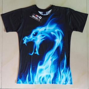 새로운 미스터 .1991inc 쿨 T 셔츠 남성 여성 남여 3d Tshirt 인쇄 블루 화재 뱀 짧은 소매 여름 티 탑 T 셔츠 드롭 배송