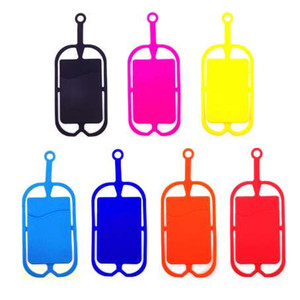 1 Piece Silicone Lanyard Cell Phone Straps Mobile Phone Holder Sling NeckWrist Strap Phone Card Holder Universal For Smartphone
