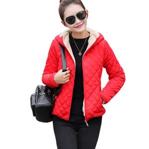 Sonbahar 2017 Parkas temel ceketler Kadın Kadın Kış artı kadife kuzu kapşonlu Palto Pamuk Kış Ceket Bayan Dış Giyim coat 40