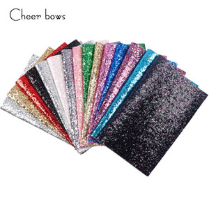 22*30CM Solid Color Glitter Fabric Apparel Sewing Accessories Garment Decorative Sewing Material Wedding Party Decoration